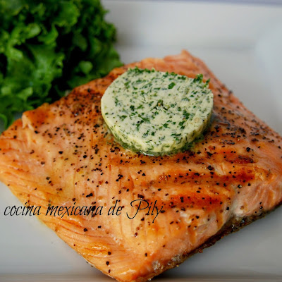 Roasted Salmon with Cilantro Butter