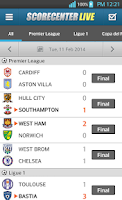 Screenshot of ScoreCenter LIVE-International