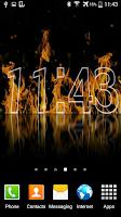 Screenshot of Fire Clock Live Wallpaper