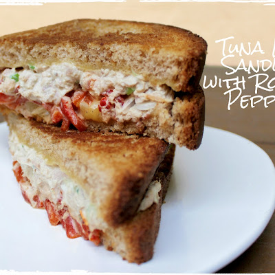 Tuna Melt Sandwich with Roasted Red Peppers