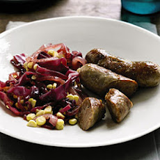Sausage with Cabbage and Corn Sauté