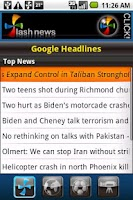 Screenshot of Flash News for Android