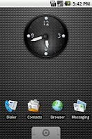 Screenshot of KDE Carbon Clock Widget 2x2