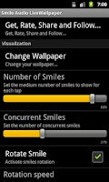 Screenshot of Smile Audio LiveWallpaper LITE