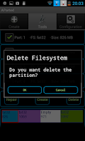 Screenshot of AParted ( Sd card Partition )