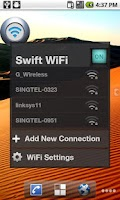 Screenshot of Swift WiFi