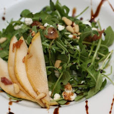 Roasted Carrot Salad with Arugula, Goat Cheese and Crispy Garlic Chips ...