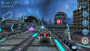 Screenshot of Space Racing 3D