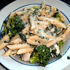 Even Easier Chicken Broccoli or Spinach Alfredo