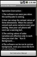 Screenshot of Earthquake Vibration Sensor
