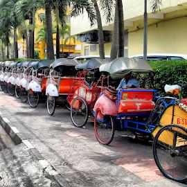 Becak by Monang Naipospos - Transportation Bicycles ( jogja, becak )