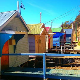 Boat houses by Greg Faull - Buildings & Architecture Homes ( tasmania, boathouse, beautiful, ocean, beach, perfect, stunning )