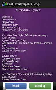 Britney Spears Songs - screenshot