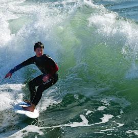 HB Surfer by Jose Matutina - Sports & Fitness Surfing ( oc, orange county, surfer, california, sport, sea, ocean, huntington beach )