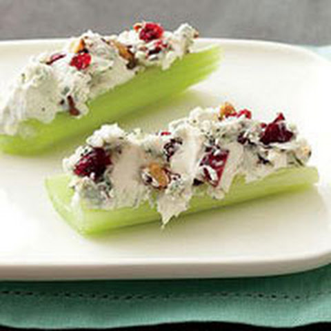 Blue Cheese-and-Pecan-Stuffed Celery