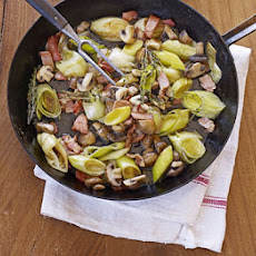 Leeks With Bacon & Mushrooms