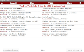 Screenshot of LE VENT DE LA CHINE (VDLC)