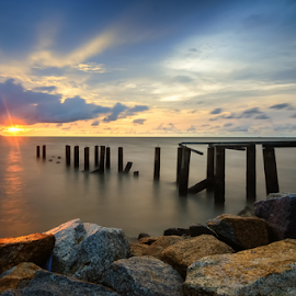 by Syazwan Shahril - Landscapes Sunsets & Sunrises ( waterscape, sunset, penang, malaysia )