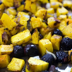 Roasted Butternut Squash, Red Grapes, and Sage
