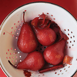 Port Wine Poached Pears