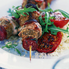 BBQ Pork and chorizo kebabs
