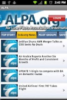 Screenshot of ALPA Mobile