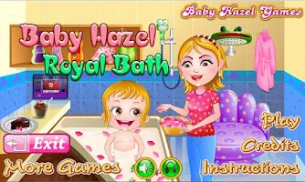 Screenshot of Baby Hazel Royal Bath
