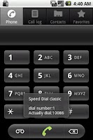 Screenshot of Speed Dial classic