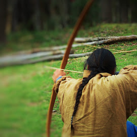 Bow and Arrow by Evy Boyes - People Portraits of Men ( indian culture, nature, bow and arrow, outdoor, sport,  )