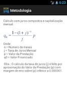 Screenshot of Cálculo Financiamento