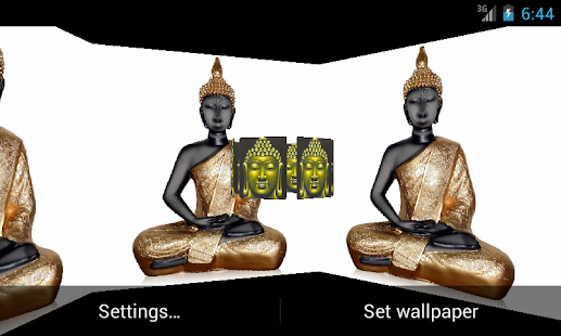 Lord Budha 3D Live Wallpaper - screenshot