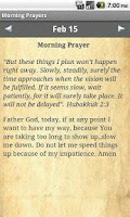 Screenshot of Morning Prayers Devotional