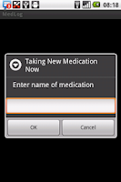 Screenshot of Medication Log