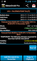 Screenshot of MetarDroid Pro ( Metar -Taf )