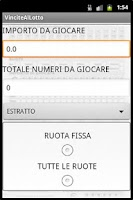 Screenshot of Il gioco del LOTTO