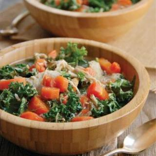 Crock Pot Paleo Chicken & Kale Soup