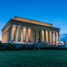 The Lincoln Memorial At Sunset by Jake Easton - Buildings & Architecture Statues & Monuments ( sony, a77mii, lincoln memorial, washington dc, national mall )