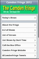 Screenshot of The Camden Fringe 2012