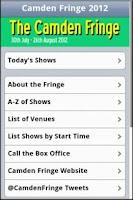 Screenshot of The Camden Fringe 2012