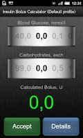 Screenshot of Insulin Bolus Calculator