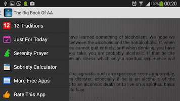 Screenshot of Big Book- Alcoholics Anonymous