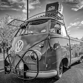 VW Type 2 by Ron Meyers - Black & White Objects & Still Life