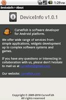 Screenshot of DeviceInfo