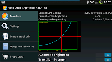 Screenshot of Velis Auto Brightness