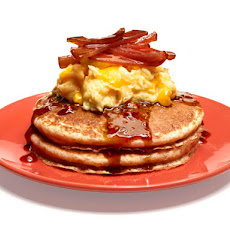 Whole-Grain Pancakes With Eggs and Bacon