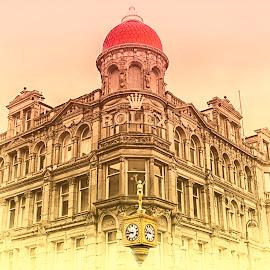 Goldsmiths Corner Clock by Dee Tee - City,  Street & Park  Markets & Shops ( georgian, shop, building, corner, clock, newcastle, gold, city )
