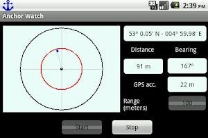 Screenshot of AnchorWatch