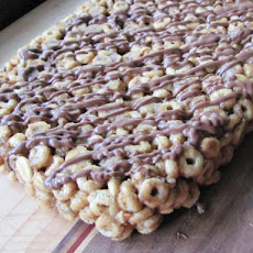 Almond Butter Honey Nut O's Bars