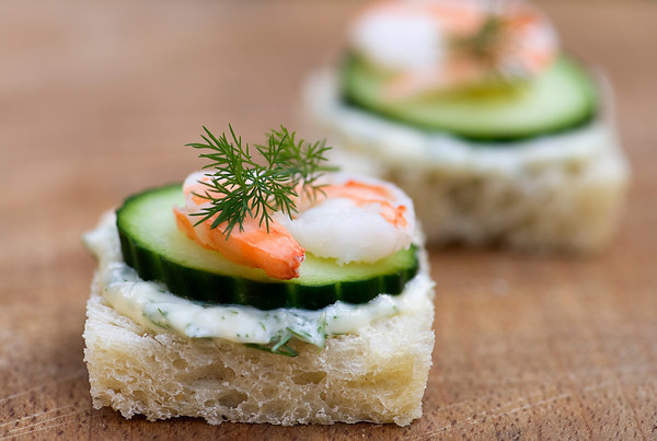 Shrimp, Brie and Cucumber Tea Sandwiches Recipe | Yummly
