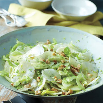 Celery, Sunchoke, and Green Apple Salad with Walnuts and Mustard Vinaigrette